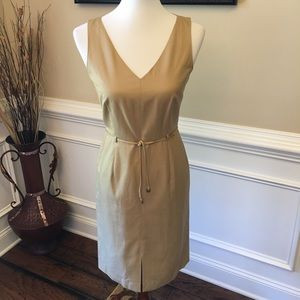 J Crew Belted Shift Dress Sz 4P
